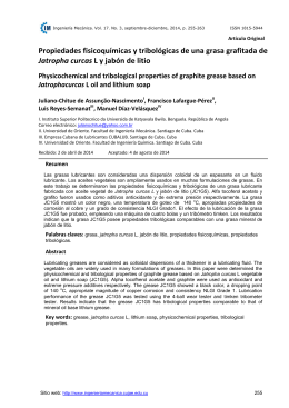 Propiedades fisicoquímicas y tribológicas de una grasa grafitada de