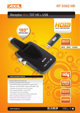 Receptor Mini TDT HD + USB RT 0302 HD