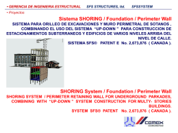 Sistema SHORING / Foundation / Perimeter Wall SHORING System