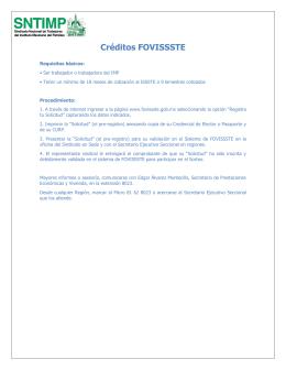 Créditos FOVISSSTE