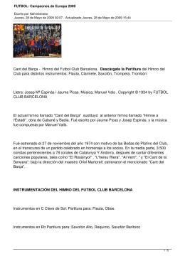 FUTBOL: Campeones de Europa 2009