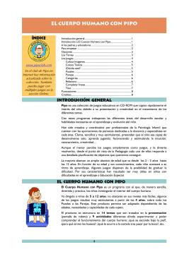 El cuerpo humano con Pipo (PDF, 8 págs., 294KB)