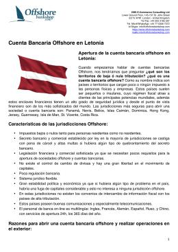 cuenta bancaria offshore en letonia