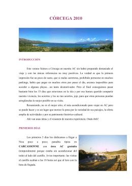 Viaje por Córcega