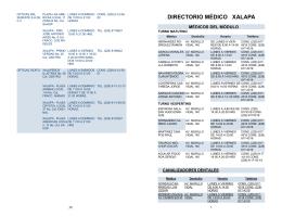 DIRECTORIO MÉDICO XALAPA