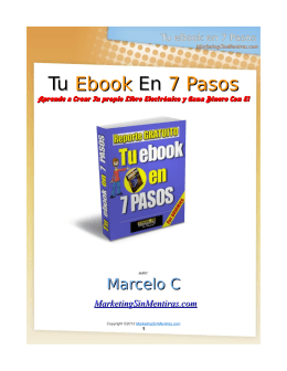 Tu eBook en 7 Pasos - MarketingSinMentiras