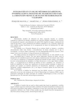 Integración de un SIG de métodos estadísticos, interpolación