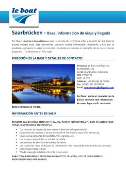 Saarbrücken - Base, información de viaje y llegada