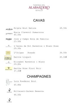 CAVAS CHAMPAGNES