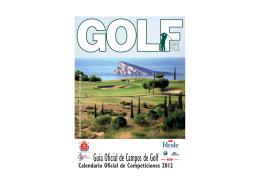 Guía Oficial de Campos de Golf 2012