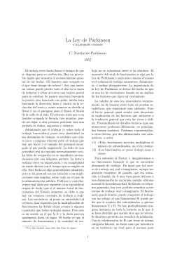 La Ley de Parkinson