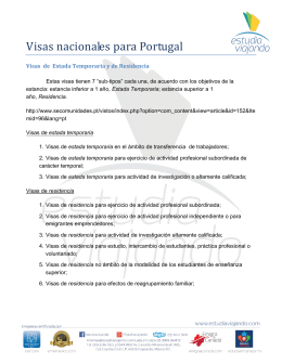 Requisitos Visa - Estudia Viajando