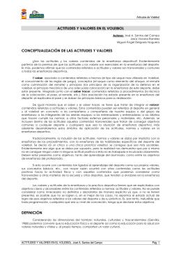 ACTITUDES Y VALORES EN EL VOLEIBOL