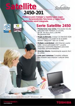 Serie Satellite 2450