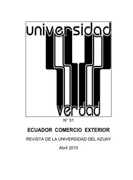 ECUADOR COMERCIO EXTERIOR