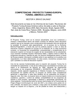 COMPETENCIAS PROYECTO TUNING