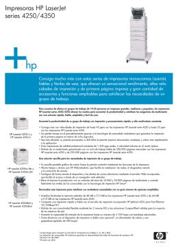 Impresoras HP LaserJet series 4250/4350