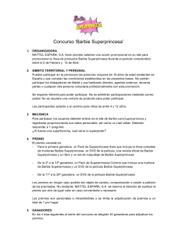 Concurso `Barbie Superprincesa`
