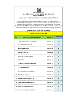 Asignación Contingentes Arancelarios DR-CAFTA 2014