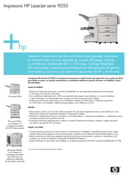 PDF Impresora HP LaserJet serie 9050
