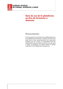 Tema 1 - ISTAS: Plataforma de formación a distancia