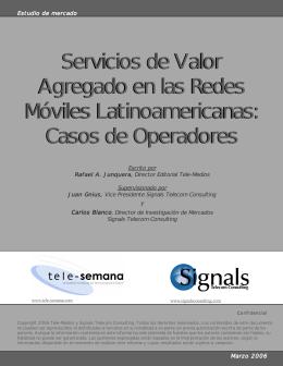 Servicios de Valor Agregado en las Redes Móviles