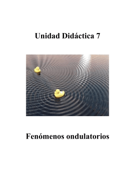Unidad Didáctica 7 Fenómenos ondulatorios
