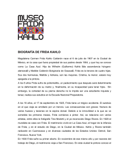 Bibliografia - Museo Frida Kahlo