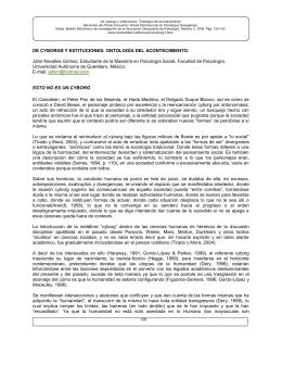 DE CYBORGS Y EXTITUCIONES: ONTOLOGÍA DEL