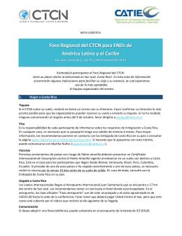 Foro Regional del CTCN para ENDs de América Latina y el Caribe