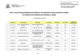 lista - Cexgan - Ministerio de Agricultura, Alimentación y Medio