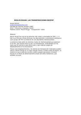 MOULIN ROUGE: LAS TRANSPOSICIONES NEOPOP