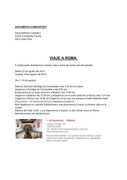 VIAJE A ROMA. - WordPress.com