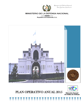 plan operativo anual 2015 - Ministerio de la Defensa de Guatemala