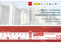 design , technology, refurbishment and management of buildings