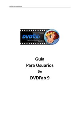 Guía Para Usuarios DVDFab 9