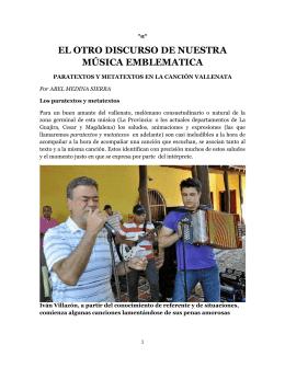 EL OTRO DISCURSO DE NUESTRA MÚSICA EMBLEMATICA