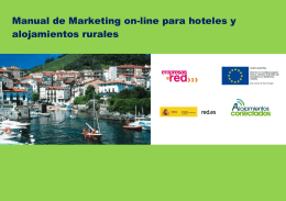 Marketing on-line - Alojamientos conectados
