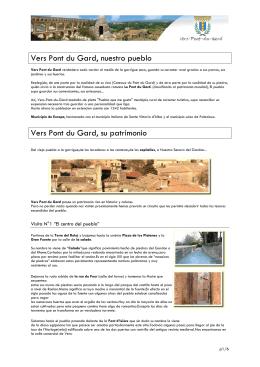 Vers Pont du Gard, nuestro pueblo Vers Pont du Gard, su patrimonio