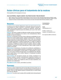 Guías clínicas para el tratamiento de la rosácea