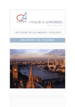 """VIAJE A LONDRES. - IES """"Ciudad los Ángeles"""" (Madrid)"""