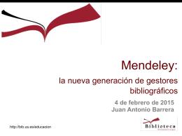 Mendeley: la nueva generación de gestores bibliográficos