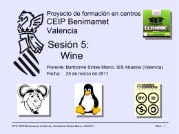 Sesión 5: Wine