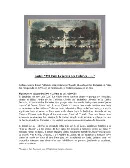 """Postal: """"290 Paris Le jardin des Tuileries"""