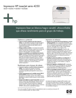 Impresora HP LaserJet serie 4250