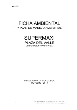ficha ambiental supermaxi plaza del valle