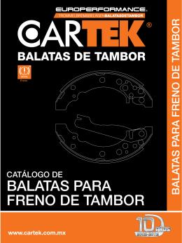 BALATAS PARA FRENO DE TAMBOR