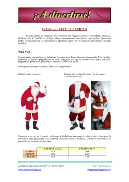 Dossier Navidad ¡A Divertirse! - Animaciones Infantiles Madrid