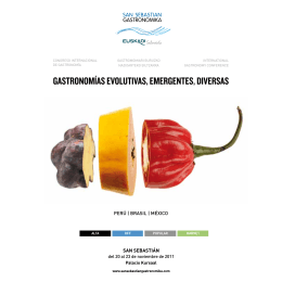Programa San Sebastian Gastronómika 2011
