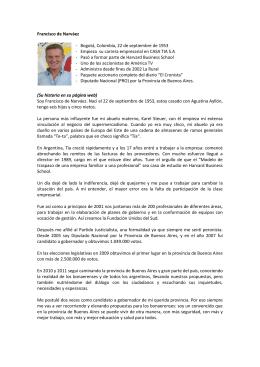 Francisco de Narváez - Bogotá, Colombia, 22 de septiembre de